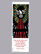 Laminated Bookmark: Confirmation Stain glass Window (LCF050)