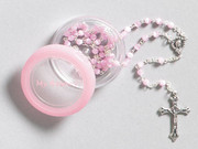 """My Rosary"": 4mm Cat's Eye: Pink"