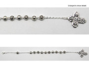 Rosary Bracelet: Silver Rose Beads (RB966)