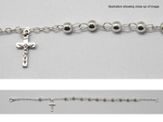 Rosary Bracelet: Silver Plated (RBBS3)