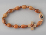 Rosary Braclet: Wood Stretch (RB02303)