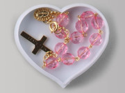 Heart Shaped Box, ROSARY BRACELET: Pink