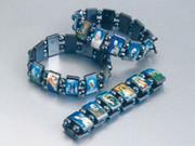 Saint Bracelet: Hematite beads