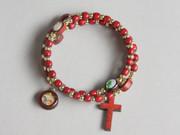 Rosary Bracelet: Wooden: Spiral