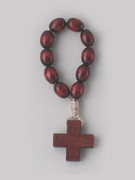 Rosary Ring/Finger Rosary: Wooden (RR102FR)