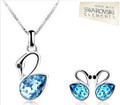 Classic Range - swan pendant & earrings