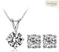 Elegant Range - solitaire pendant & earrings