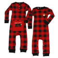 Infant Plaid Flapjacks Onesie Union Suit