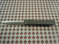 MICROTECH MAKORA II STONEWASH BLACK HANDLE