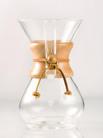 CHEMEX SIX CUP CLASSIC SERIES GLASS COFFEE MAKER