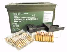 223 5.56x45mm NATO M855 SS109 NM229 steel core ammo