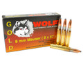 8mm Mauser Ammo 196gr SP Wolf Gold Box