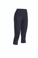 CW-X Womens Pro 3/4 Tights New 2015 Colour Black Light Purple