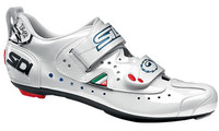 Sidi T2 Carbon Composite Triathlon Shoe in White with Lucido