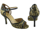Gold and Black Fireworks - Tango Shoes