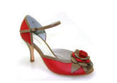 Greta Flora - Amalia Rojo Beige (fully leather)- Tango Shoes