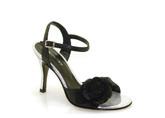 Greta Flora Rosaura Black Silver tango shoes