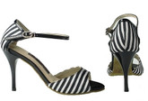 Passion in Stripes (satin) - Tango Shoes