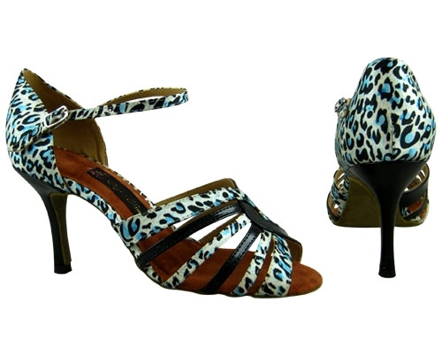 Heart of Leopard (satin) - Tango Shoes