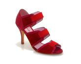 Greta Flora - Nacha Fuchsia-Red (fully leather)