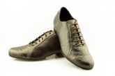 2x4 al pie Almagro - Negro y Croco Bronce (fully leather)