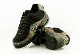 2x4 al pie Zapatillas Women Dance Sneakers - Buenos Aires Negro con Leopardo