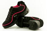 2x4 al pie Zapatillas Women Dance Sneakers - Buenos Aires Negro con Ribete Fucsia