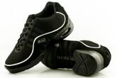 2x4 al pie Zapatillas Women Dance Sneakers - Buenos Aires Negro con Ribete Blanco