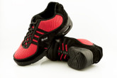 2x4 al pie Zapatillas Men Dance Sneakers - Buenos Aires Fucsia Fluo y Negro