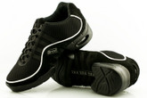 2x4 al pie Zapatillas Men Dance Sneakers - Buenos Aires Negro con Ribete Blanco