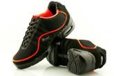 2x4 al pie Zapatillas Men Dance Sneakers - Buenos Aires Negro con Ribete Naranja