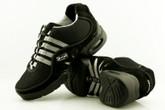2x4 al pie Zapatillas Men Dance Sneakers - Buenos Aires Negro con Tiras Grises