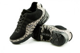 2x4 al pie Zapatillas Men Dance Sneakers - Buenos Aires Negro con Jaguar