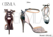 Online Tango Shoes - Cervila - Zebra (fully leather)