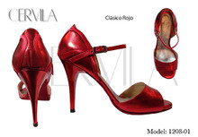 Online Tango Shoes - Cervila - Clasico Rojo (fully leather)