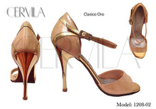 Online Tango Shoes - Cervila - Clasico Oro (Gold) (fully leather)