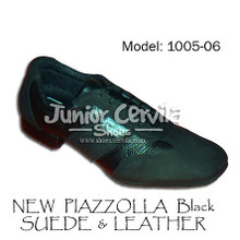 Online Tango Shoes - Cervila - Nuevo Negro Gamuza Cuero (fully leather)