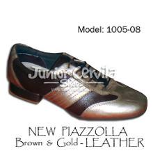 Online Tango Shoes - Cervila - Nuevo Dorado Marron Cuero (fully leather)