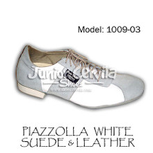 Online Tango Shoes - Cervila - Piazzolla Blanco Gamuza Cuero (suede and leather)