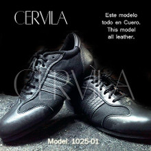 Online Tango Shoes - Cervila - Trad Negro Cuero (fully leather)