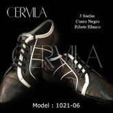 Cervila - Suelas Negro Blanco (fully leather)