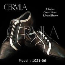 Online Tango Shoes - Cervila - Suelas Negro Blanco (fully leather)