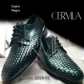Cervila - Trenzado Negro Cuero (fully leather)