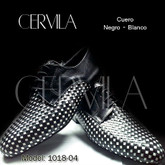 Cervila - Trenzado Negro Blanco Cuero (fully leather)