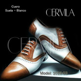 Cervila - Pebote Suela Blanco (fully leather)