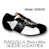 Cervila - Piazzolla Negro Blanco Gamuza Cuero (suede and leather)