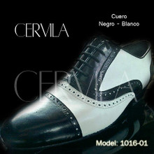 Online Tango Shoes - Cervila - Pebote Negro Blanco (fully leather)