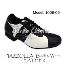 Online Tango Shoes - Cervila - Piazzolla Negro Blanco Cuero (fully leather)