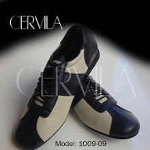 Online Tango Shoes - Cervila - Piazzolla Negro Beige Cuero (fully leather)