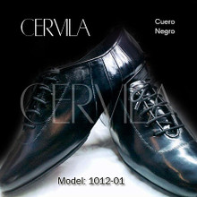 Online Tango Shoes - Cervila - Dash Negro Cuero (fully leather)